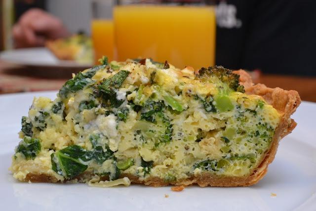 Broccoli, Kale, and Feta Quiche [easter] | Recipe Box | Pinterest