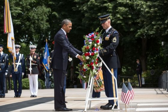president wreath memorial day