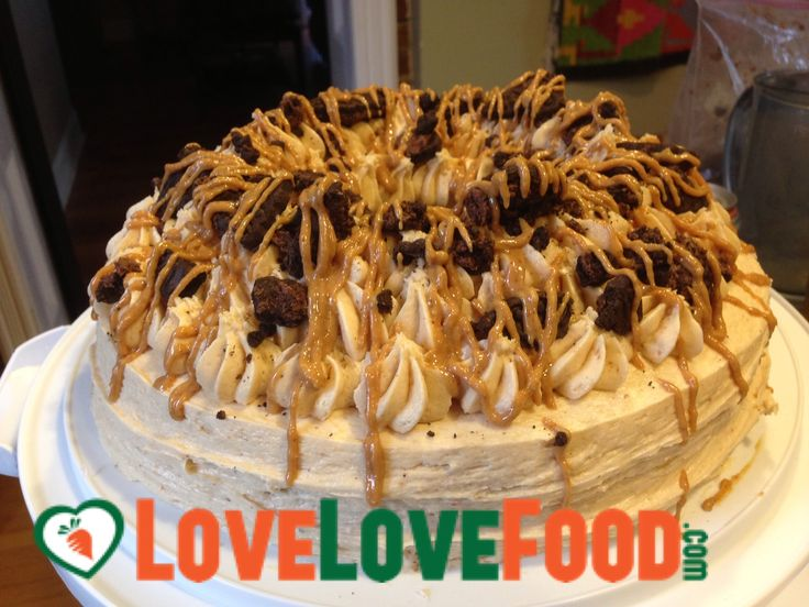 Explosion (brownie cake ring with cream cheese peanut butter icing ...