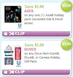 00 off Axe & Dove Holiday Gift Sets! | Coupons Curator | Pinterest