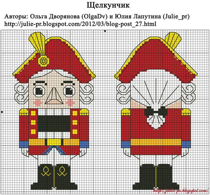 Схемы вышивки крестом щелкунчика