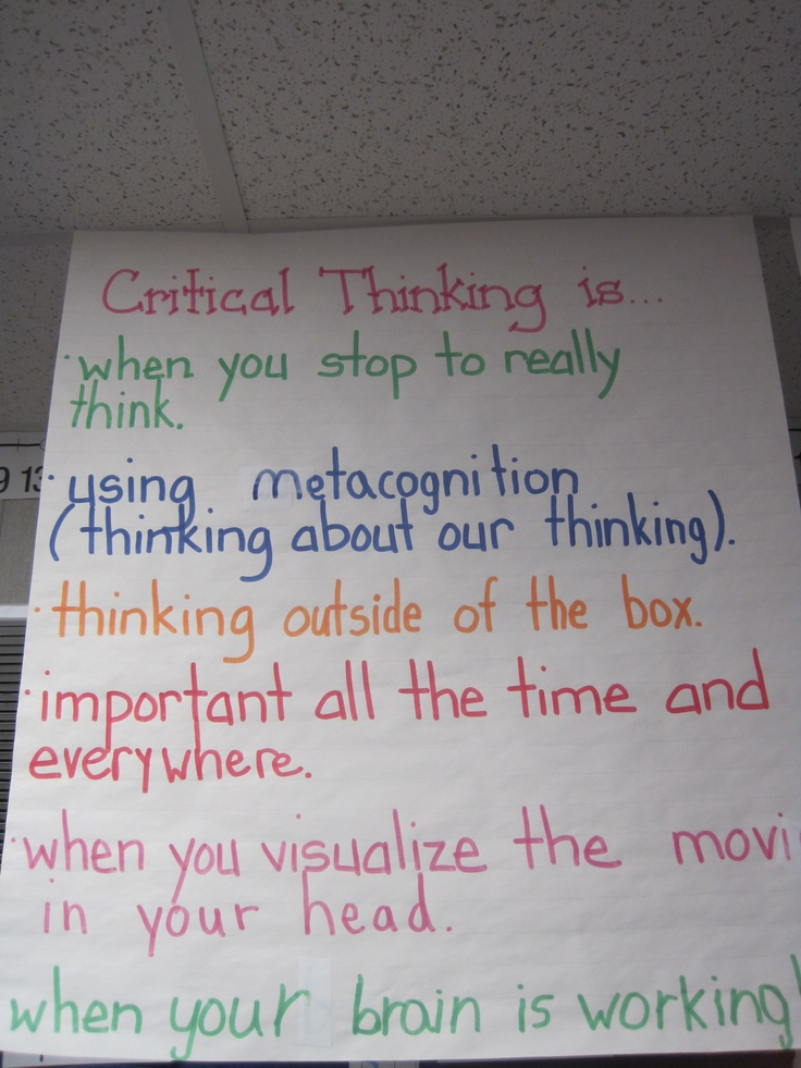 critical thinking elementary Critical thinking receives increasing emphasis from educators looking to infuse analytical thinking skills into the curriculum many research projects have been.