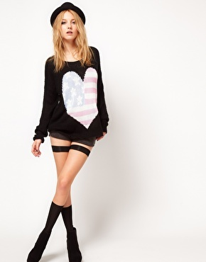 Wildfox USA Heart Jumper - OMG I want this !!!! ♥