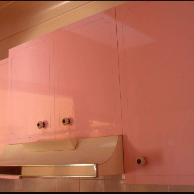 Retro pink Vintage Kitchen cabinets  For the Home  Pinterest