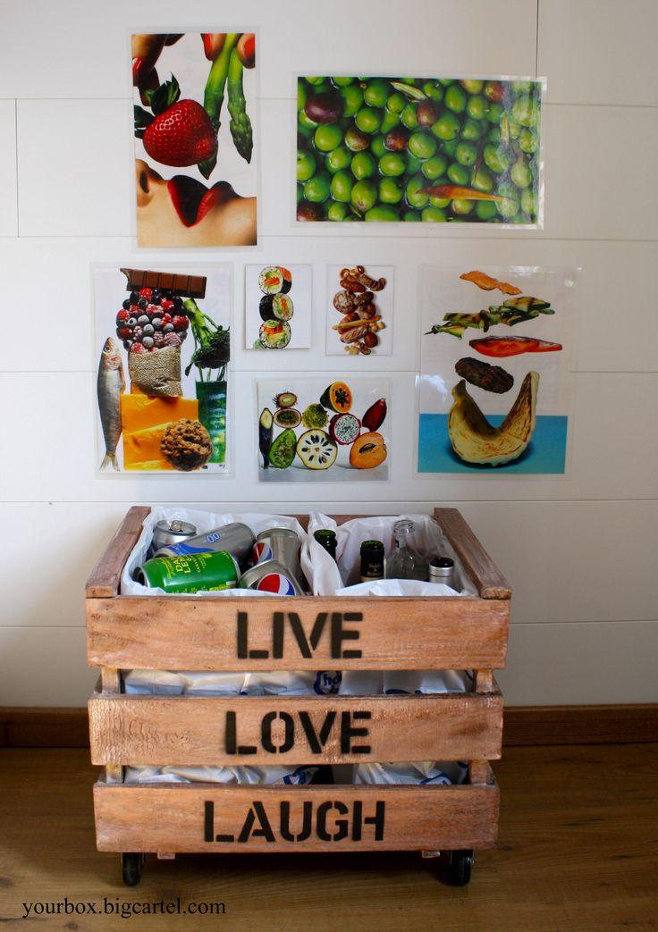 Caja de madera 3 listones estilo - Decoracion con reciclaje ...
