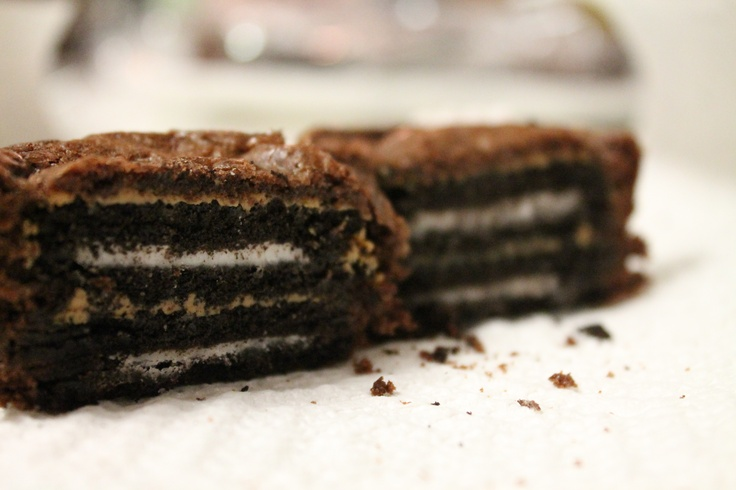 Oreo & Peanut Butter Brownie Cakes | Pins I've done | Pinterest