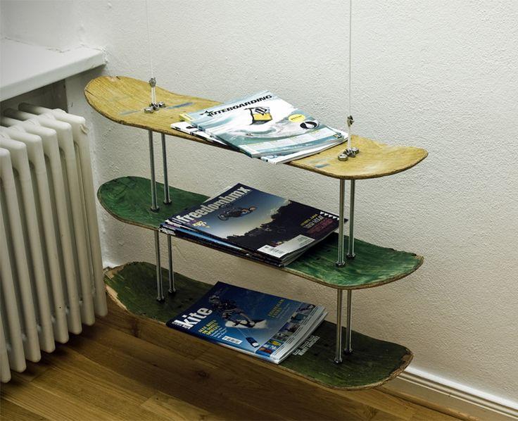 skateboard deck shelves kids room pinterest. Black Bedroom Furniture Sets. Home Design Ideas