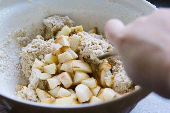 roasted pear & hazelnut brown butter scones