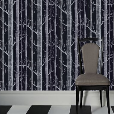 wallpaper cole sons woods black basement pinterest