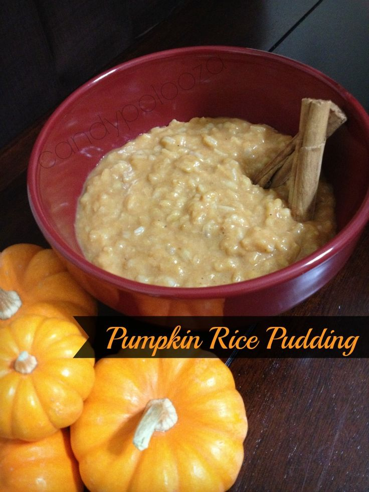 vegan and gf pumpkin rice pudding | Everything P U M P K I N | Pinter ...