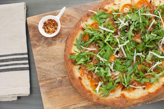 Roasted Sweet Potato & Caramelized Onion Pizza with Creamy Béchamel ...