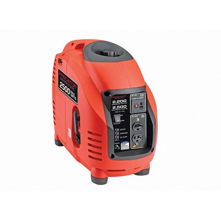 Predator Generators 61169 2500 Watts Peak/2200 Running Watts, 4.7 HP  (125cc) Portable Inverter Generator