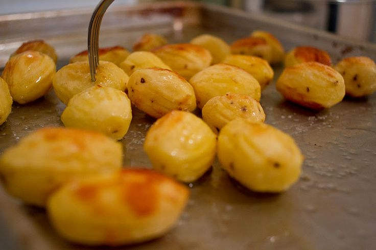 forked oven roasted potatoes