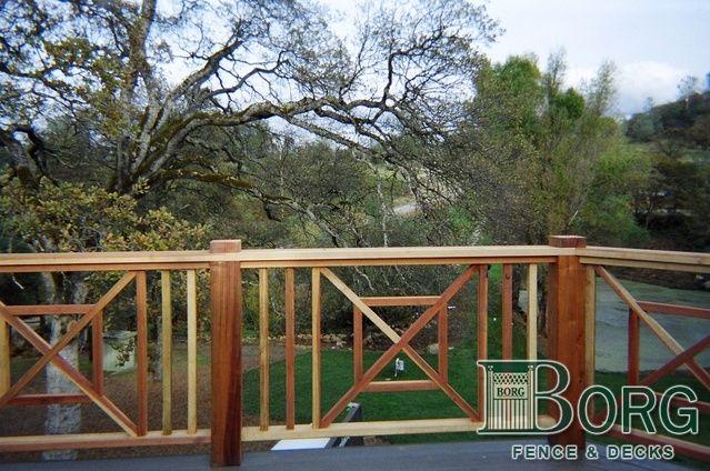 Custom deck railing gates pinterest for Custom deck plans