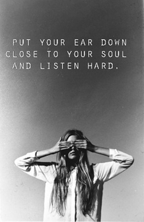 Listen to your #soul