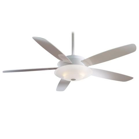 "Airus™ - 54"" Ceiling Fan - 54"" 5 Blades in White Finish w/High Gloss ..."