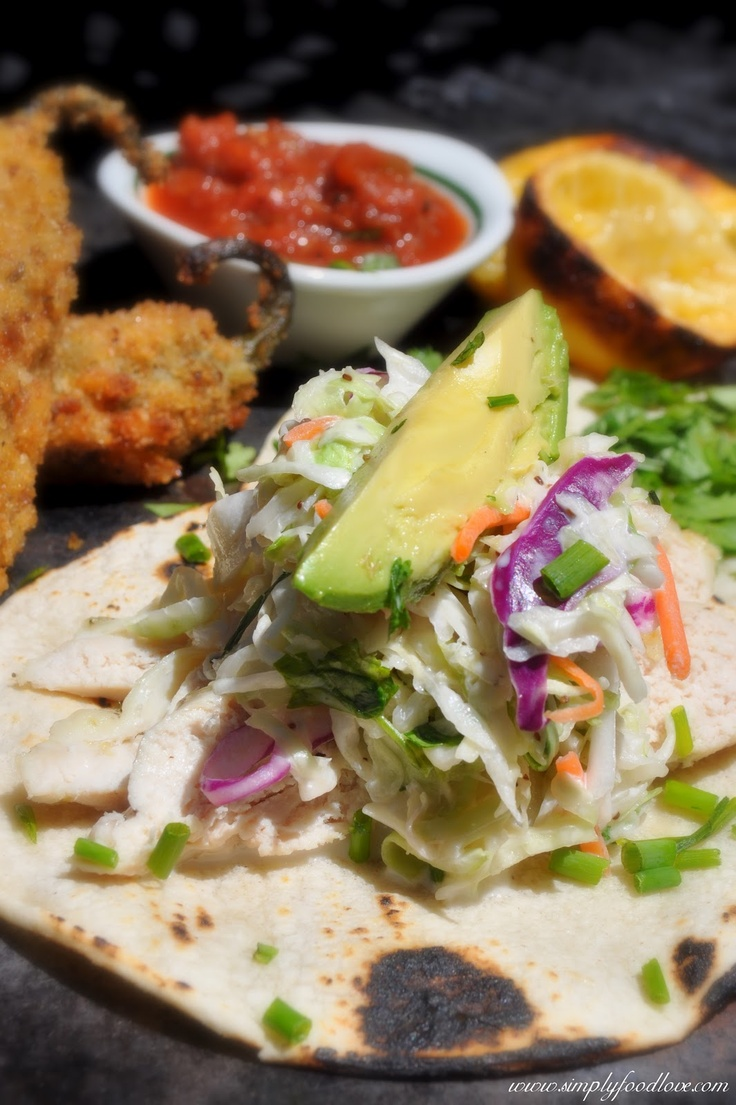 Lemon Chicken Tacos with Spicy Lime and Avocado Sauce. Simply Food ...