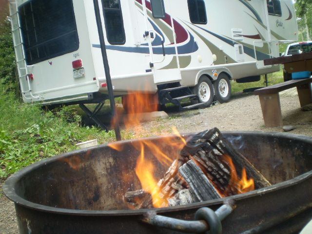 RV camping with many of the comforts of home!Camping & Cabins; Grand Mesa Uncompahgre and Gunnison National Forests