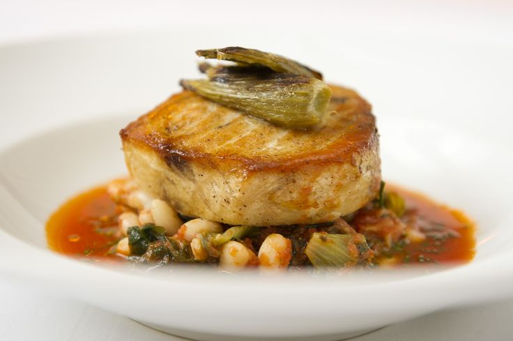 Grilled Swordfish Puttanesca With Fennel And White Beans ...