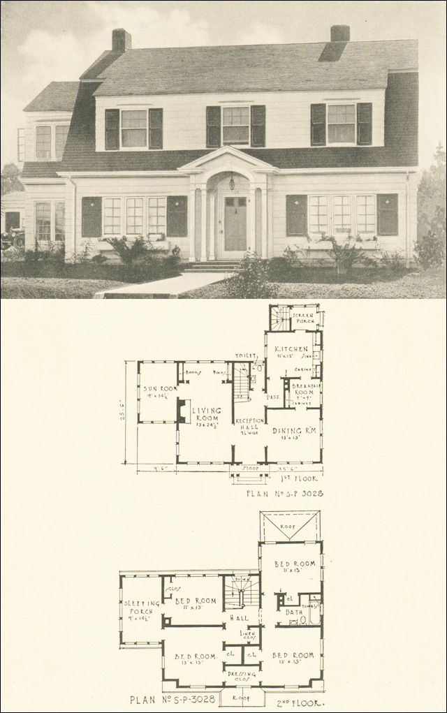 Colonial dutch vintage house plans pinterest Dutch colonial house plans with photos