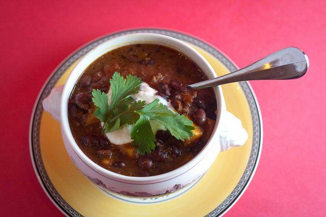 Black Bean Sweet Potato Chili with Quinoa (ate it today - DELICIOUS ...