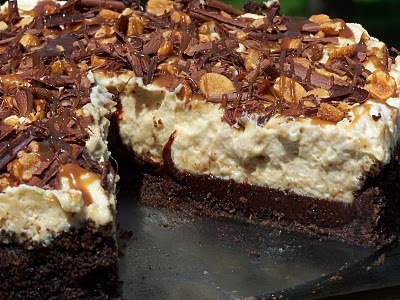 Dessert: Black-Bottomed Peanut Butter Mousse Pie