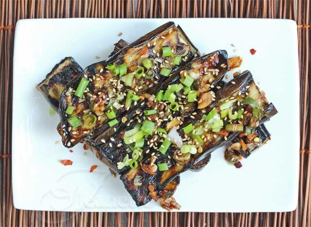 Asian Grilled Eggplant with Soy Sesame Sauce | Recipe