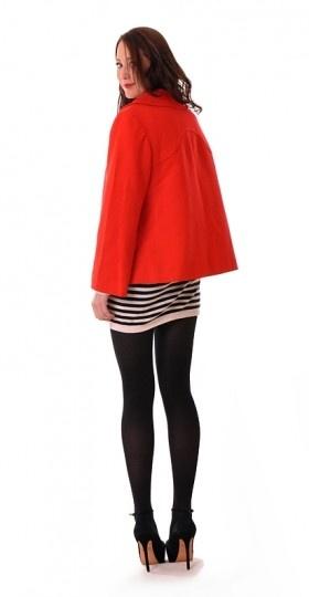Red Wool Swing Jacket | Damsel Vintage