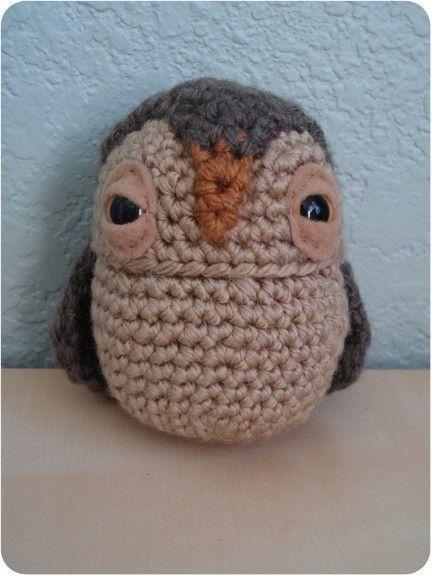 crochet pattern - owl amigurumi miniature plushie woodland ...