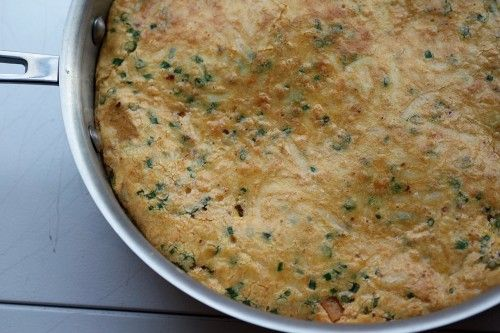 frittata with caramelized garlic, butternut squash & aleppo