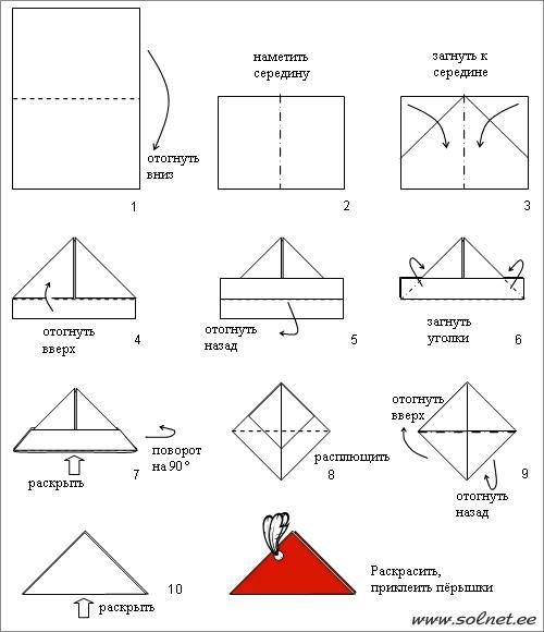 Оригами как сделать шляпу