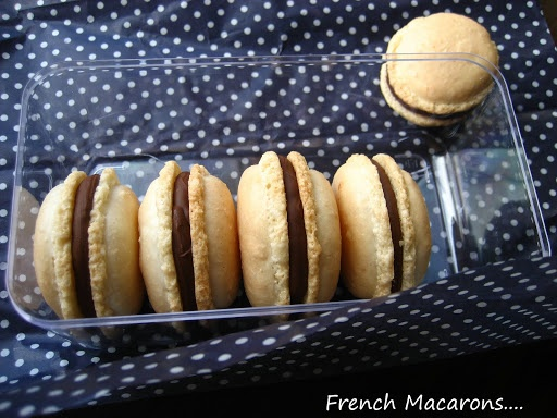 Coconut French Macarons... with Chocolate Filling | Home Cooking In ...