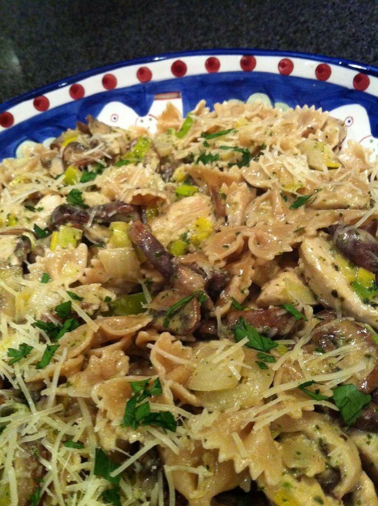 Chicken Pollo & Mushrooms in Sherry Cream Sauce, Whole Wheat Farfalle ...