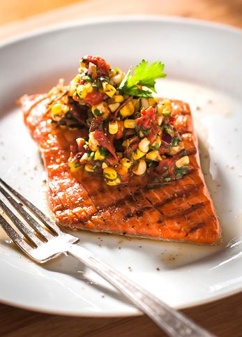 Salmon with Roasted Corn Relish