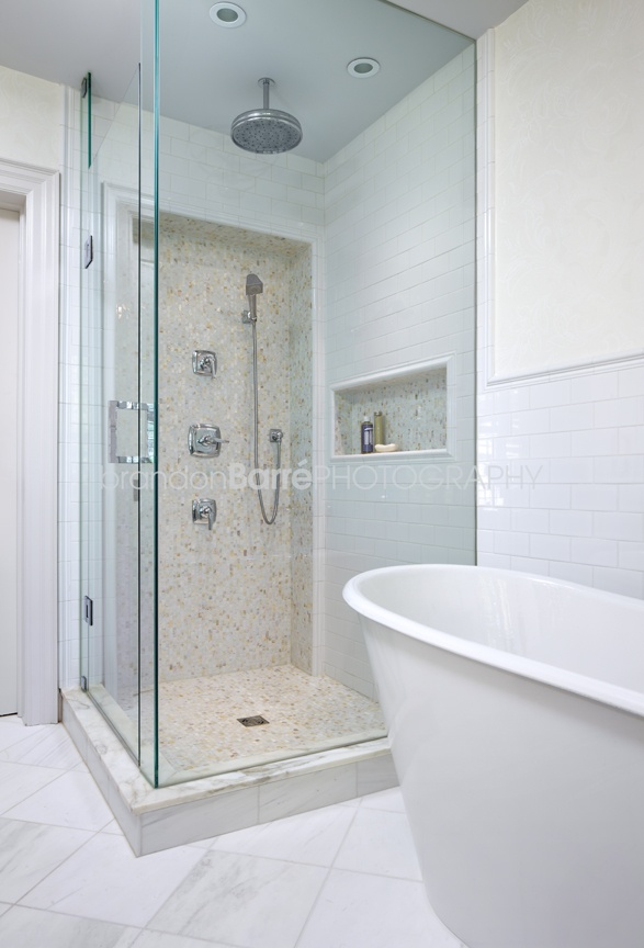Bathroom With Mother Of Pearl Tiles Bath Pinterest