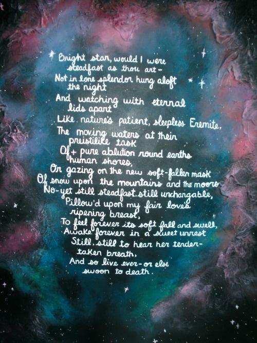 bright star by john keats john keats pinterest