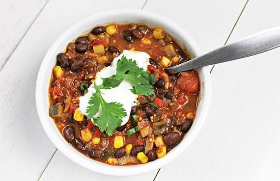 """... and green onions. And Fritos."""" Promising #vegetarian #chili #recipe"""