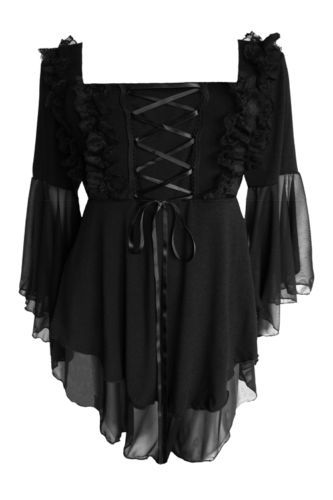 NWT WOMENS PLUS SIZE CLOTHING FAIRY TALE CORSET TOP IN BLACK 5X