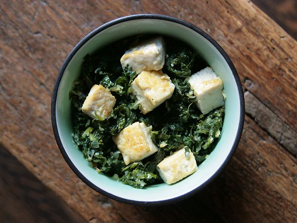 Kale Saag Paneer with Tofu (will add some cream to make it super ...