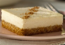 Egg nog cheesecake. I know who would enjoy this!