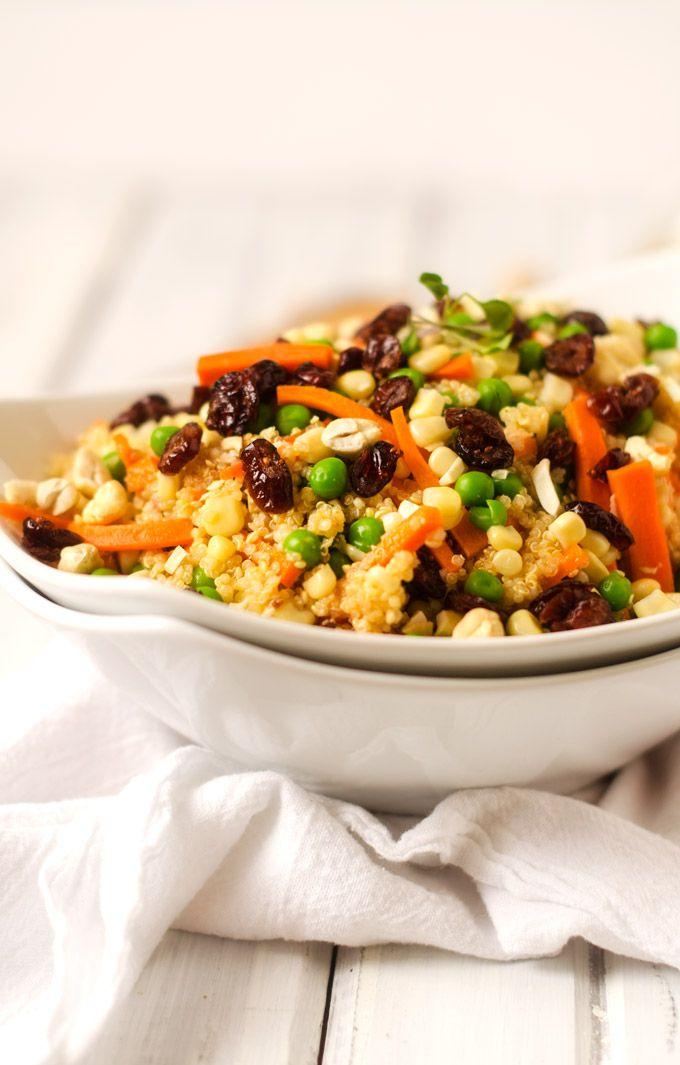 Quinoa Salad with Spicy Pumpkin Vinaigrette - Cooking Quinoa