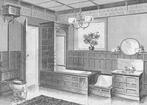 Jl mott modern bathroom home interior design pinterest for Victorian era bathroom designs