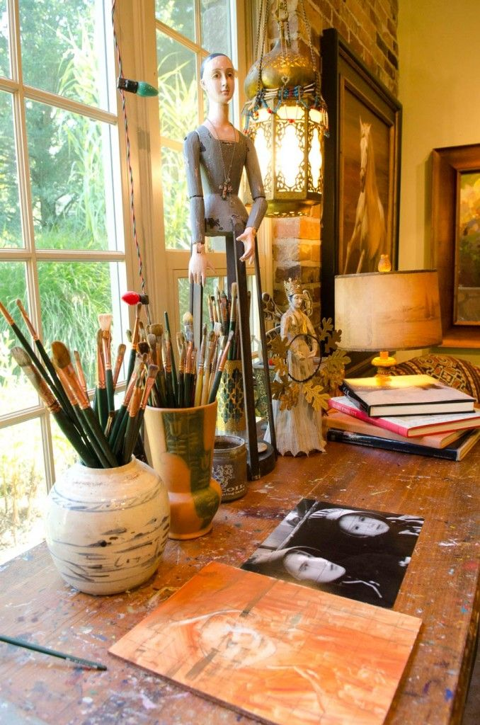 Pin by gatherer of great things on where creating happens pinterest - Home art studio ...