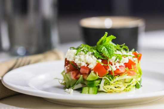 Cucumber, Tomato, and Feta Salad with Mint, Basil and Sherry ...