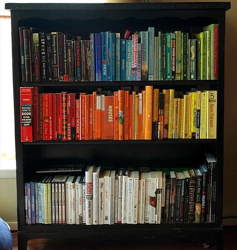 Rainbow Bookshelf For The Home Pinterest