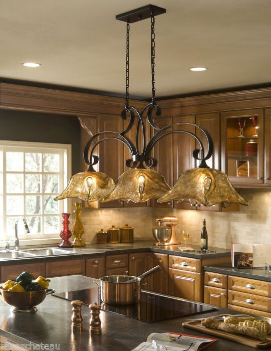 tuscan tuscany bronze amber art glass kitchen island