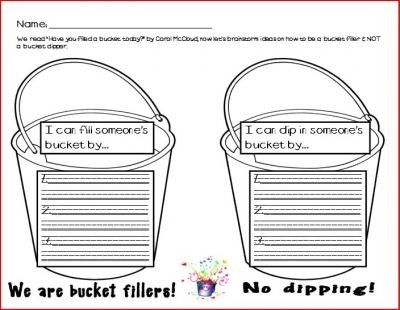 Bucket Filling Printables | just b.CAUSE