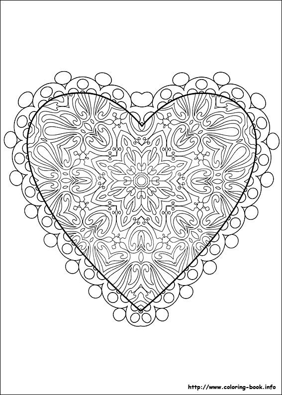 coloring valentine day coloring pages
