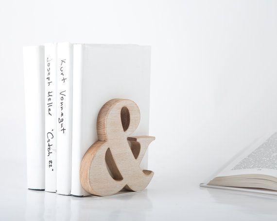 Modern stylish bookend Ampersand Wooden by DesignAtelierArticle, $29.99