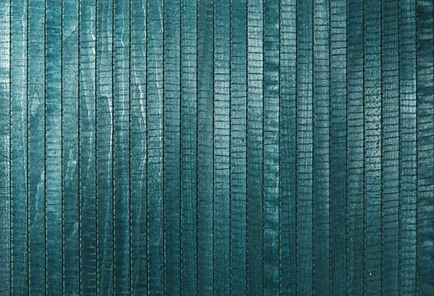 Kenneth James, Grasscloth wall paper, forest green . Looks Aqua to me